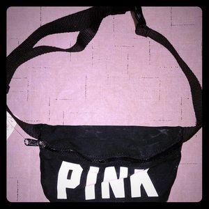 Victoria's Secret PINK Black Canvas Fanny Back NWT